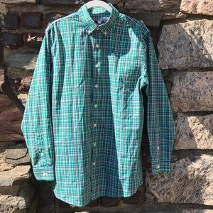 Vineyard Vines Whale Shirt Green Check XL (20)